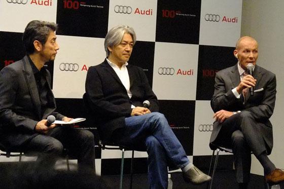 Ryuichi Sakamoto & Mr. D. Besche, CEO of Audi Japan